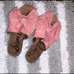 Sam Edelman Henna Gingham Bow Slide Sandals